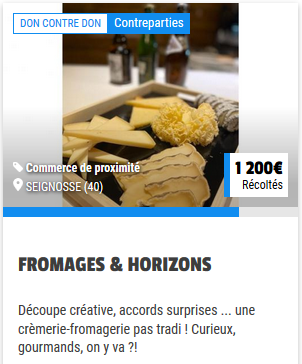 Lien vers la campagne de crowdfunding: https://www.tudigo.co/don/fromages-horizons